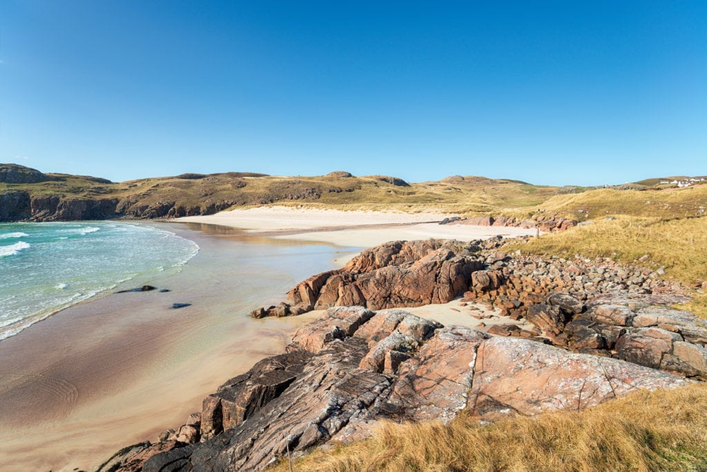 Polin Beach at Oldshore Beg near Kinlochbervie in Sutherland in the Scottish Highlands
